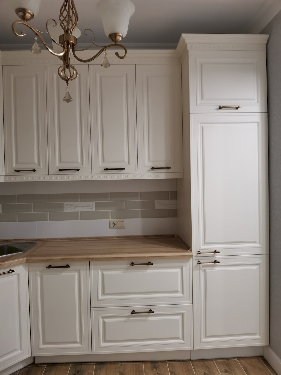 Белый кухонный гарнитур-Кухня МДФ в ПВХ «Модель 573»-фото9