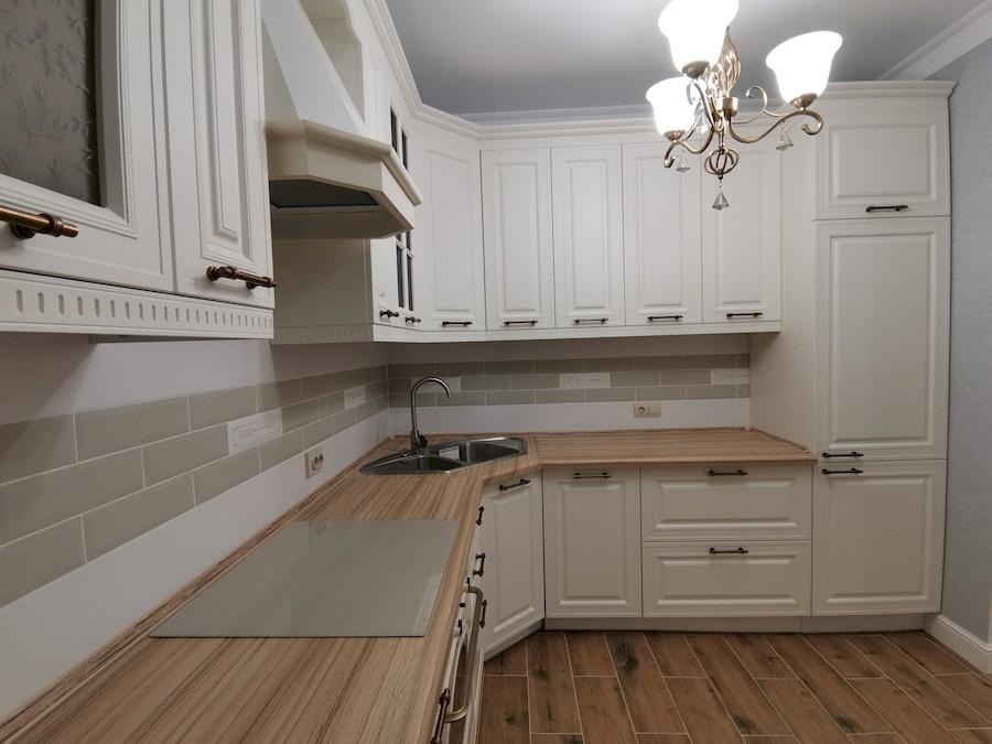 Белый кухонный гарнитур-Кухня МДФ в ПВХ «Модель 573»-фото5