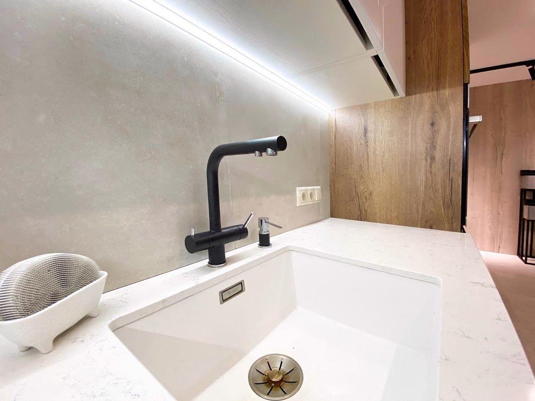 Белый кухонный гарнитур-Кухня МДФ в эмали «Модель 618»-фото8