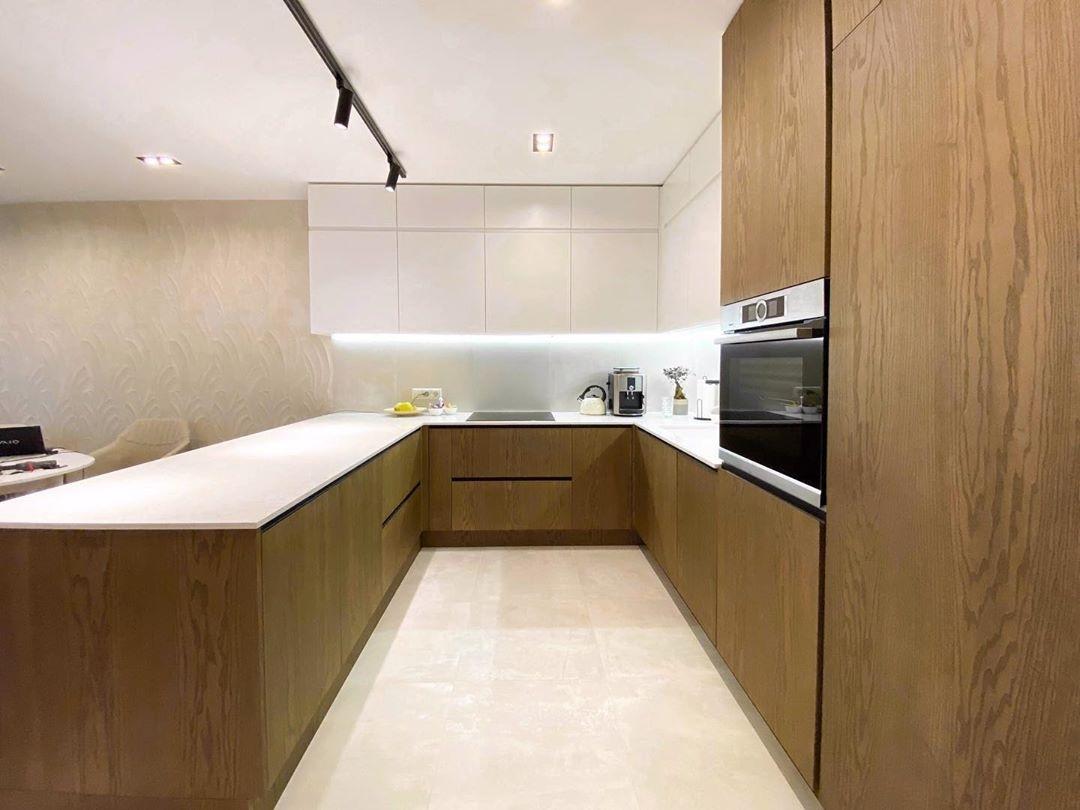 Белый кухонный гарнитур-Кухня МДФ в эмали «Модель 618»-фото3