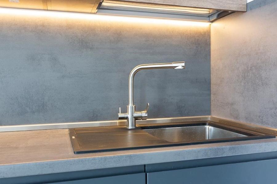 Встроенная кухня-Кухня МДФ в эмали «Модель 585»-фото5