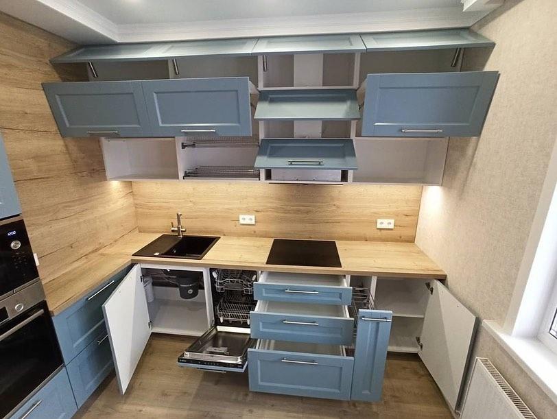 Классические кухни-Кухня МДФ в эмали «Модель 586»-фото4