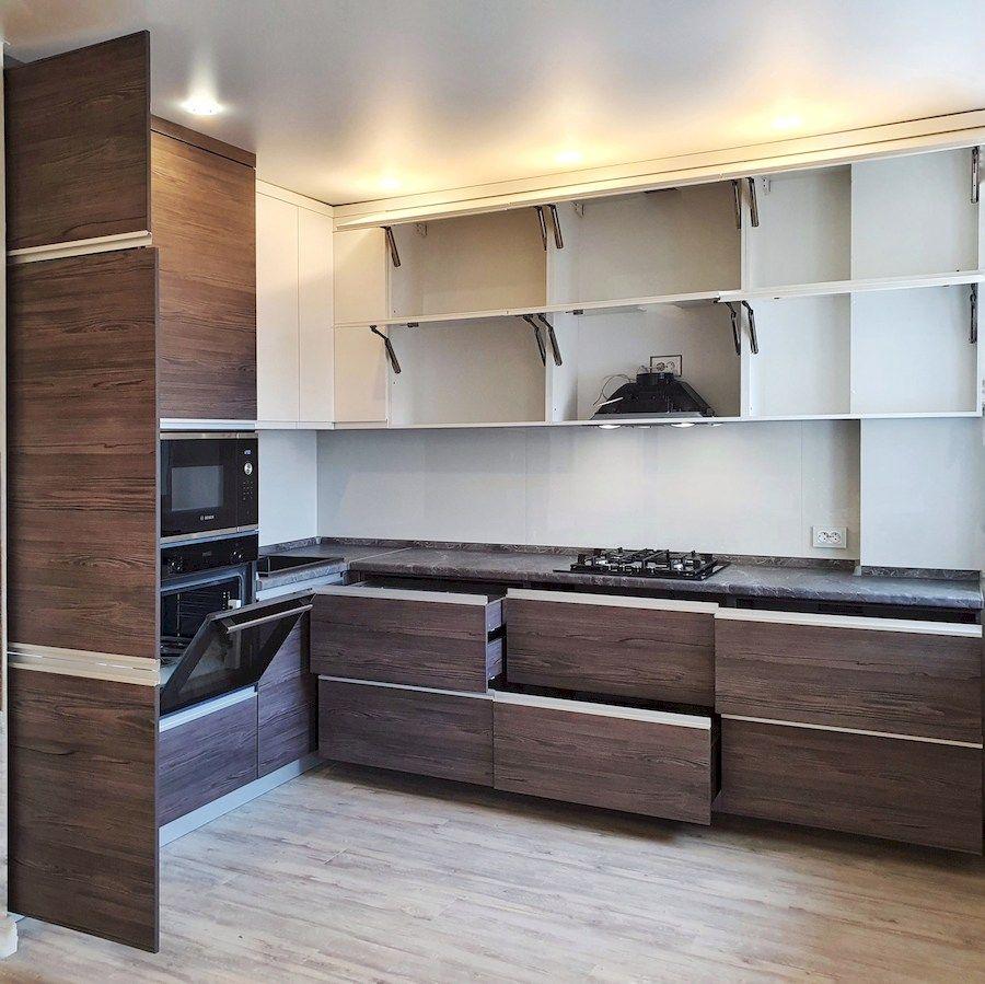 Белый кухонный гарнитур-Кухня из пластика «Модель 539»-фото4