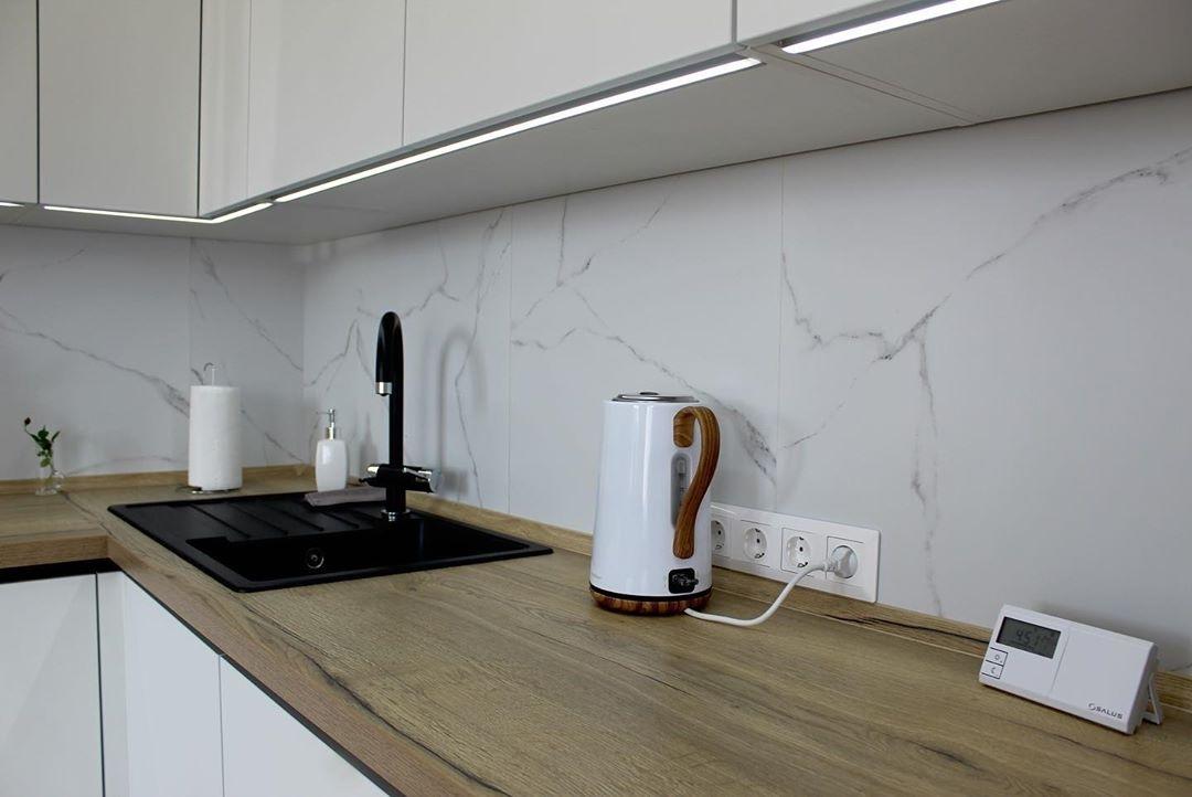 Белый кухонный гарнитур-Кухня МДФ в эмали «Модель 616»-фото4