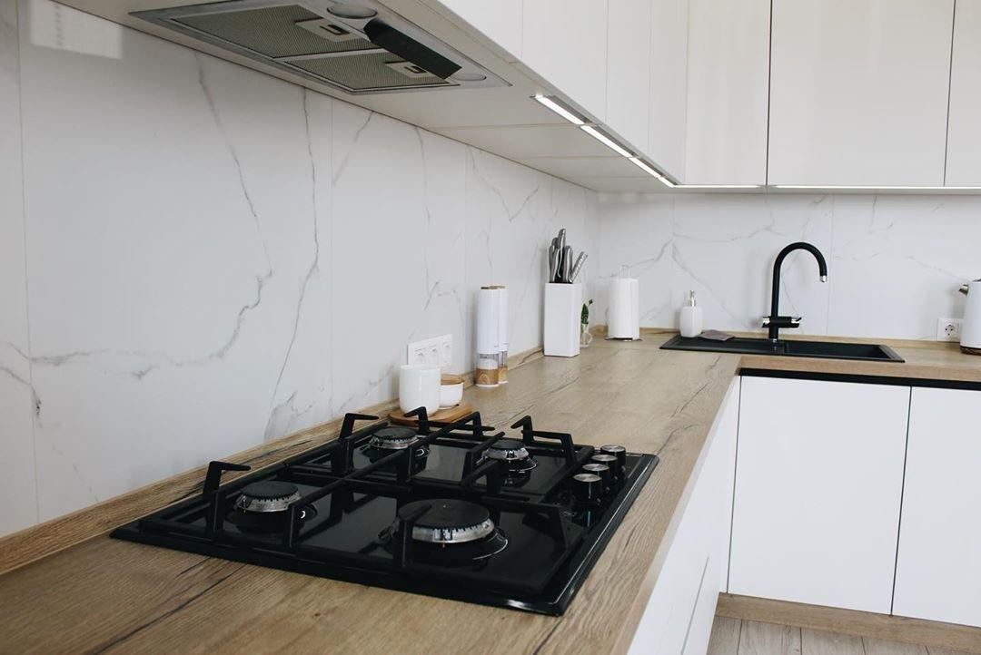 Белый кухонный гарнитур-Кухня МДФ в эмали «Модель 616»-фото5