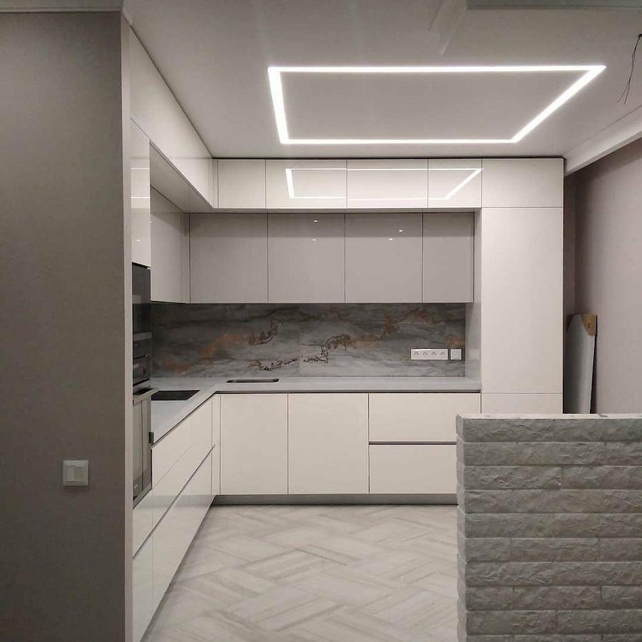 Акриловые кухни-Кухня из акрила «Модель 646»-фото1