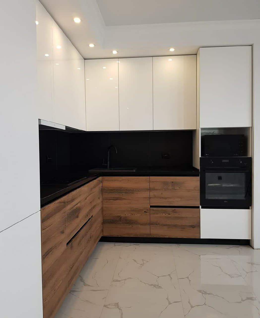 Белый кухонный гарнитур-Кухня МДФ в эмали «Модель 629»-фото3