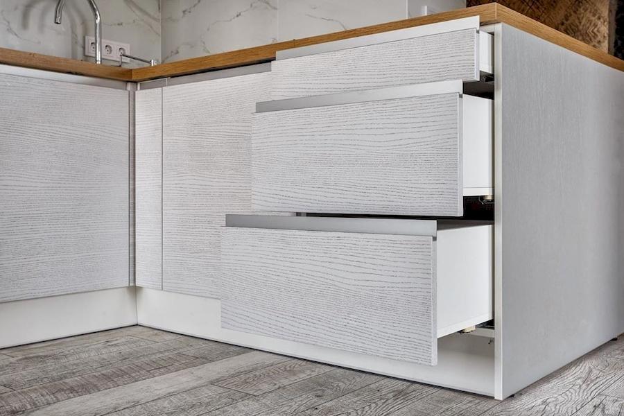 Белый кухонный гарнитур-Кухня из ЛДСП «Модель 583»-фото4