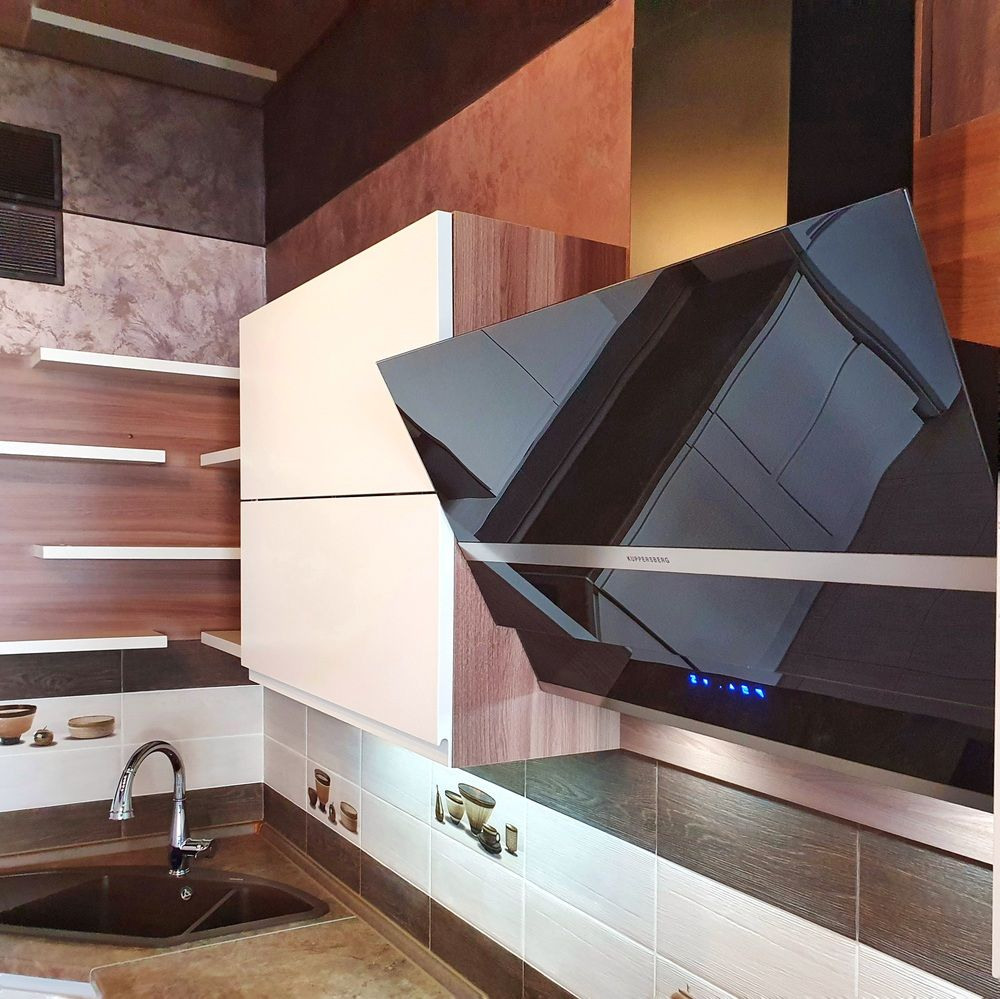 Белый кухонный гарнитур-Кухня МДФ в эмали «Модель 537»-фото7