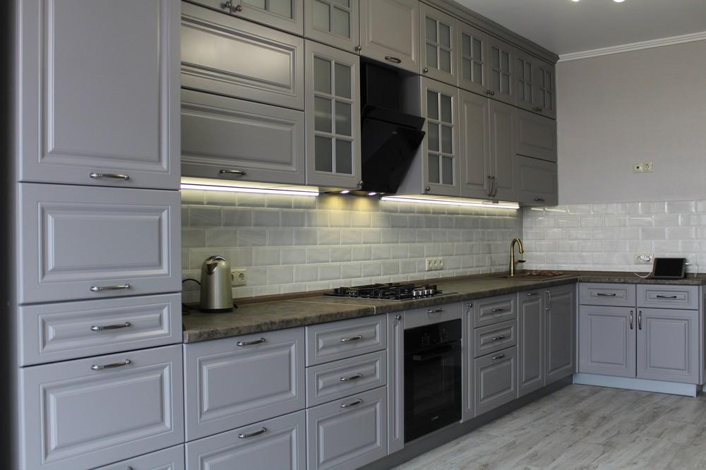Белый кухонный гарнитур-Кухня МДФ в ПВХ «Модель 183»-фото7
