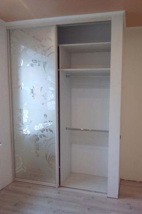 Белые шкафы-купе-Шкаф-купе с зеркалом «Модель 55»-фото4