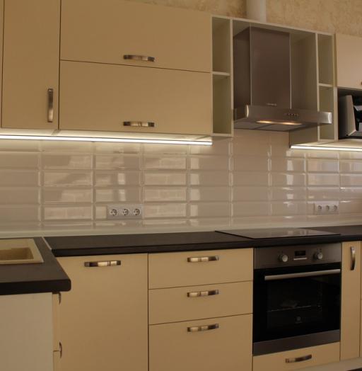 Акриловые кухни-Кухня МДФ в ПВХ «Модель 305»-фото8