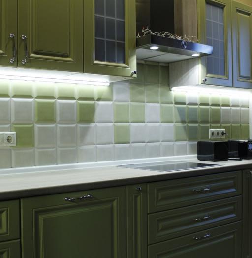 Встроенная кухня-Кухня МДФ в эмали «Модель 123»-фото8