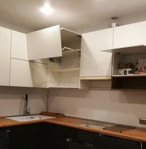 Белый кухонный гарнитур-Кухня МДФ в ПВХ «Модель 124»-фото4