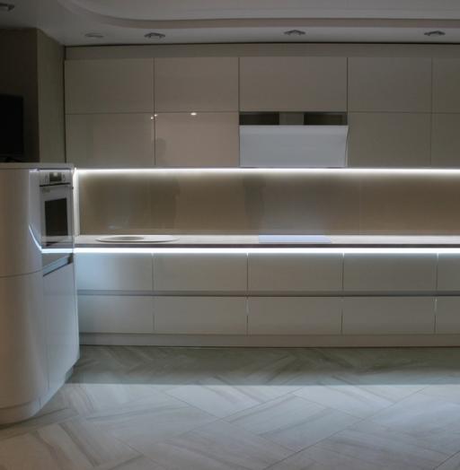 Белый кухонный гарнитур-Кухня МДФ в эмали «Модель 439»-фото5
