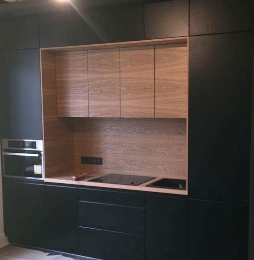 Встроенная кухня-Кухня МДФ в эмали «Модель 464»-фото4