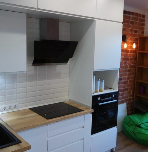 Белый кухонный гарнитур-Кухня МДФ в эмали «Модель 471»-фото4