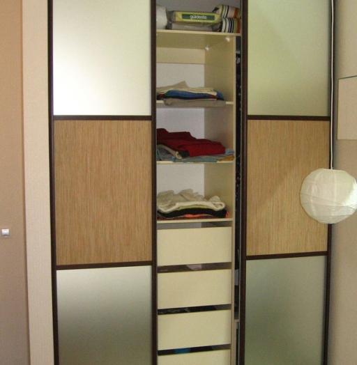 Бельевой шкаф-купе-Шкаф-купе с зеркалом «Модель 435»-фото4