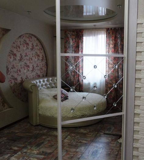 Бельевой шкаф-купе-Шкаф-купе с зеркалом «Модель 457»-фото4