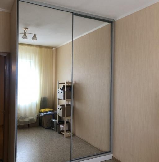 Бельевой шкаф-купе-Шкаф-купе с зеркалом «Модель 476»-фото3