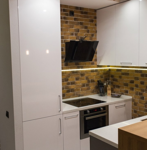 Купить желтую кухню-Кухня МДФ в пластике «Модель 12»-фото5