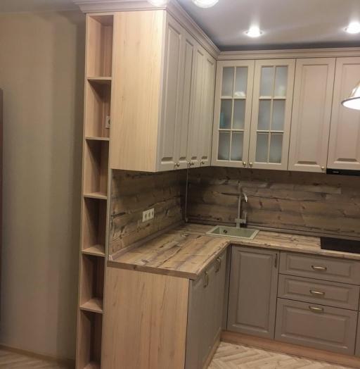 Классические кухни-Кухня МДФ в ПВХ «Модель 62»-фото5