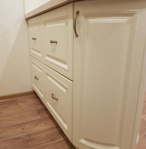 Белый кухонный гарнитур-Кухня МДФ в ПВХ «Модель 70»-фото8