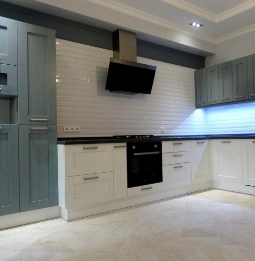 Белый кухонный гарнитур-Кухня МДФ в ПВХ «Модель 145»-фото4