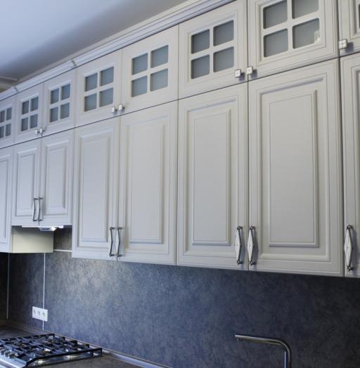 Встроенная кухня-Кухня МДФ в ПВХ «Модель 147»-фото8