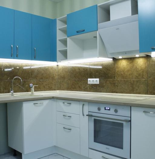 Встроенная кухня-Кухня МДФ в ПВХ «Модель 162»-фото5