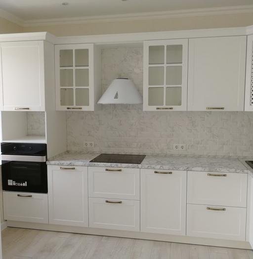 Белый кухонный гарнитур-Кухня МДФ в ПВХ «Модель 522»-фото4