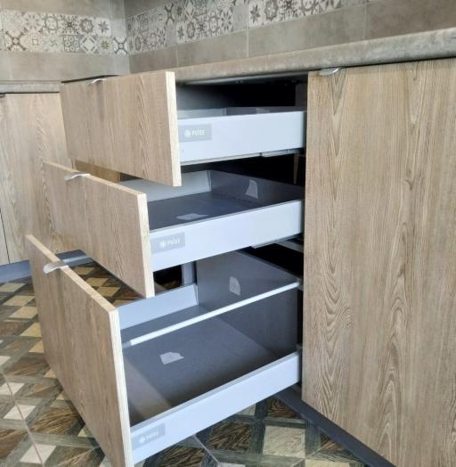 Встроенная кухня-Кухня МДФ в ПВХ «Модель 538»-фото8