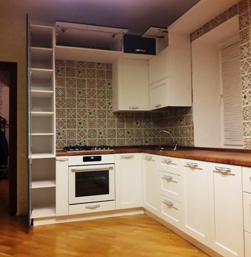 Белый кухонный гарнитур-Кухня МДФ в эмали «Модель 539»-фото9