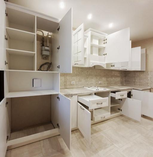 Белый кухонный гарнитур-Кухня МДФ в эмали «Модель 538»-фото10