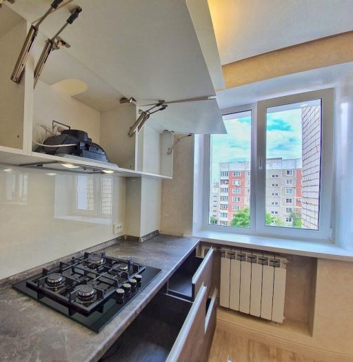 Белый кухонный гарнитур-Кухня из пластика «Модель 539»-фото10