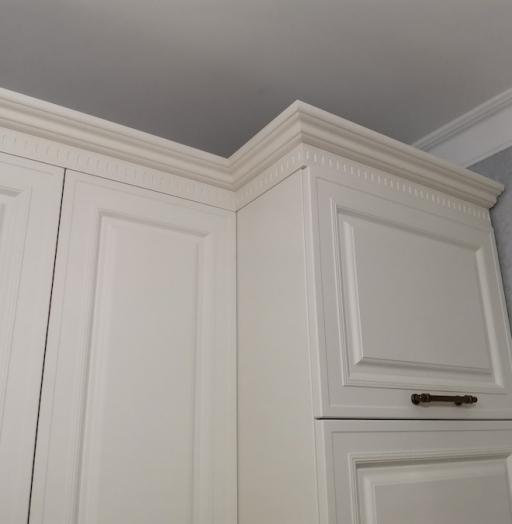 Белый кухонный гарнитур-Кухня МДФ в ПВХ «Модель 573»-фото14