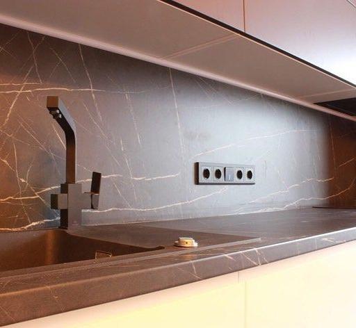 Белый кухонный гарнитур-Кухня МДФ в эмали «Модель 658»-фото7