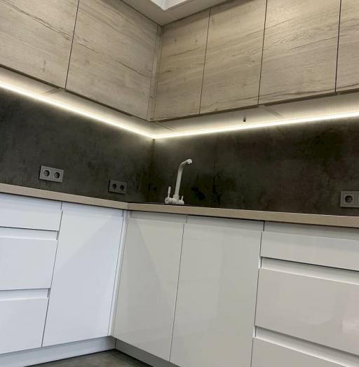 -Кухня МДФ в эмали «Модель 670»-фото19